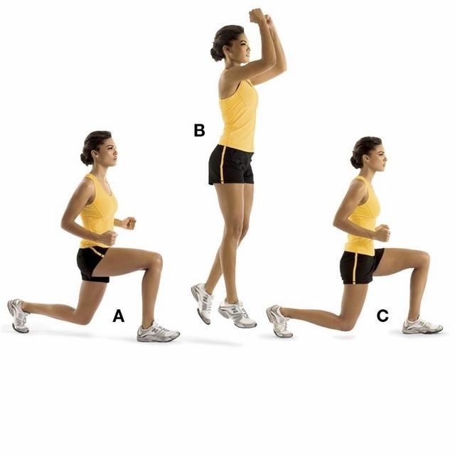 Bật nhảy đổi chân - Bài tập aerobic giảm mỡ bụng cho người mới tập
