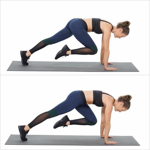 Tư thế leo núi - Bài tập aerobic giảm mỡ bụng cho người mới tập