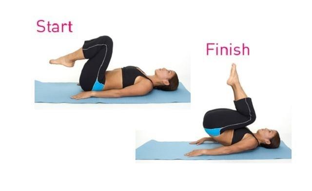 Bài tập giảm mỡ bụng trong 1 tuần - Gập bụng nâng người