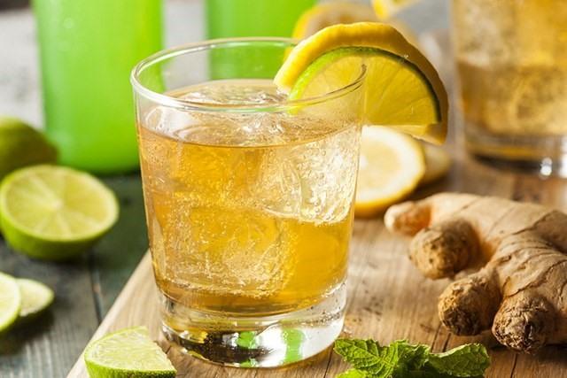 Nước chanh gừng - Uống gì để giảm mỡ bung dưới