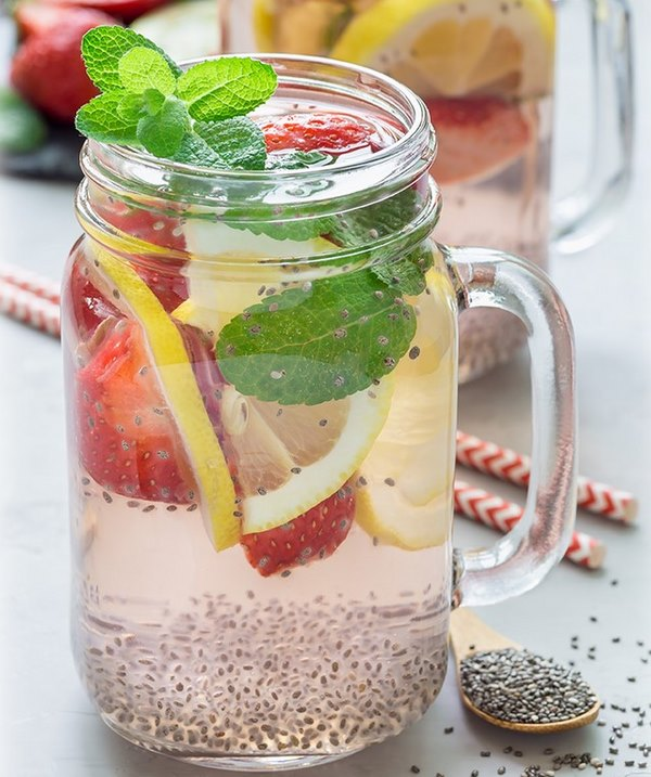 Cách uống hạt chia giảm mỡ bụng với Detox - Đây còn là công thức hoàn hảo để loại bỏ độc tố khỏi cơ thể
