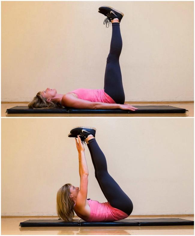 Bài tập đưa chân lên cao giảm mỡ bụng dưới hiệu quả