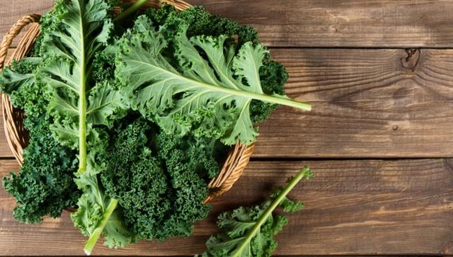 Cần tây và rau cải kale chứa nhiều chất xơ dồi dào hỗ trợ giảm cân