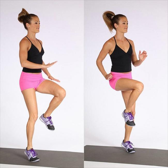 Chạy nâng cao đùi giảm mỡ, săn chắc cơ đùi và bụng