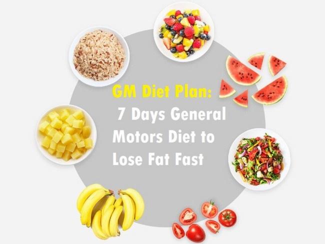 Chế độ ăn General Motor Diet giảm cân cấp tốc trong 7 ngày