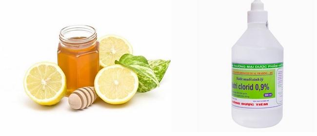 Mặt nạ mật ong, chanh và nước muối