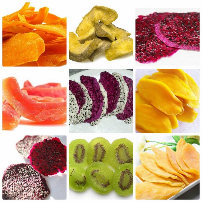 Hoa quả sấy nguyên chất giúp giảm béo hiệu quả