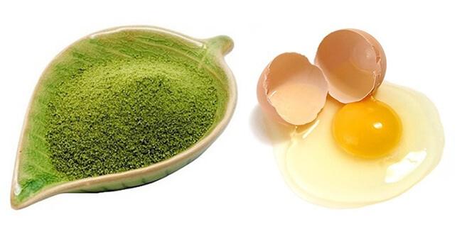 Kết hợp trứng gà với trà xanh nguyên chất