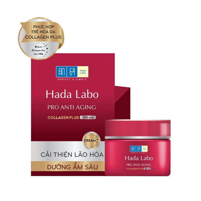 Kem Hada Labo Pro Anti Aging Collagen Plus Cream