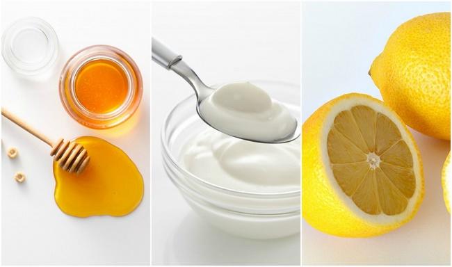 Kết hợp chanh, mật ong và sữa chua, muối trị mụn đầu đen hiệu quả