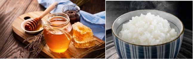 Kết hợp cơm nóng với mật ong để có làn da luôn mềm mịn