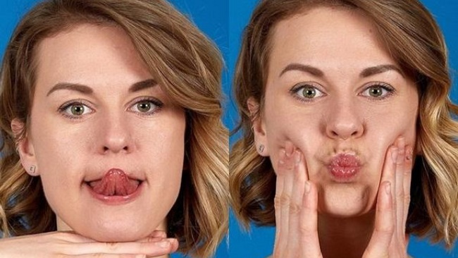Lưỡi chạm mũi - bài tập giảm béo mặt hiệu quả