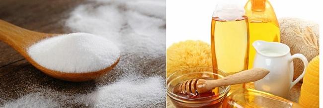 Làm sạch mụn đầu đen bằng mật ong, đường và sữa