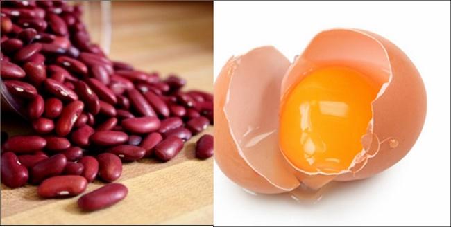 Mặt nạ lòng đỏ trứng gà với đậu đỏ