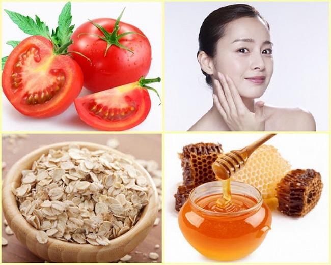 Mặt nạ trị mụn đầu đen bằng mật ong, bột yến mạch và cà chua