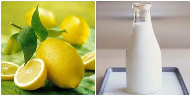 Mix chanh với sữa tươi không đường trị mụn đầu đen hiệu quả