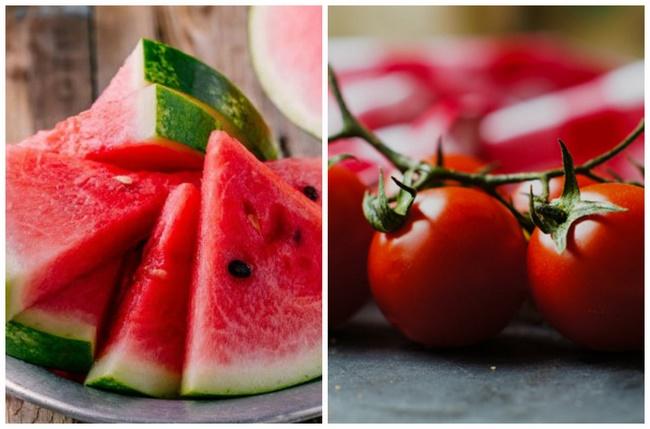 Nước ép dưa hấu cà chua chứa nhiều chất xơ cao, hỗ trợ giảm cân tốt
