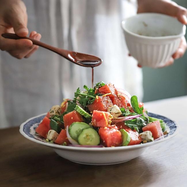 Giảm cân bằng cách ăn Salad dưa hấu với bạc hà