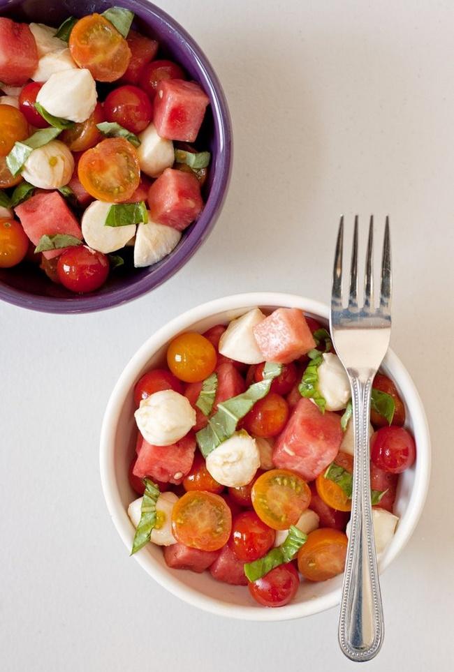 Giảm cân hiệu quả với Salad dưa hấu với cà chua