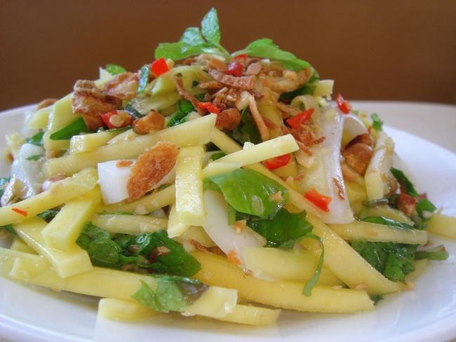 Salad xoài giảm cân nhanh chóng