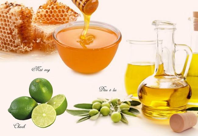 Tẩy da chết bằng dầu oliu, chanh và mật ong