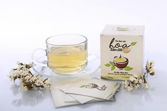 Uống trà sâm đất giảm mỡ bụng