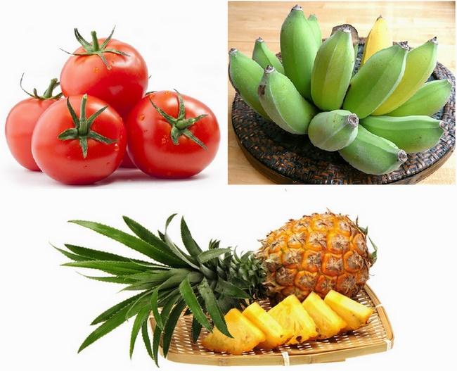 Pha detox cà chua + dưa và chuối để tăng phần phong phú cho thức uống