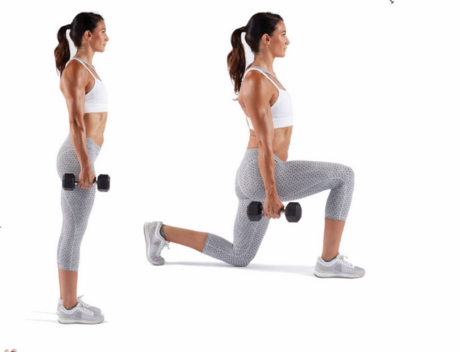 Bài tập Dumbbell Single Leg Split Squat