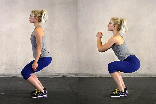 Bài tập Squat giảm cân hiệu quả