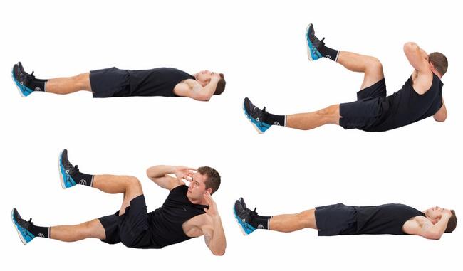 Bài tập gập bụng chéo giảm mỡ 2 bên hông cho nam