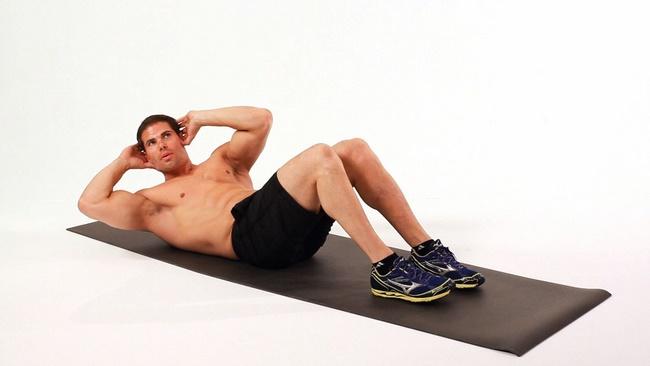 Bài tập gập bụng giảm mỡ 2 bên hông cho nam