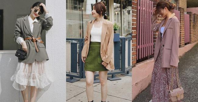 Phối chân váy vintage với áo Blazertạo phong cá tính và thời thượng