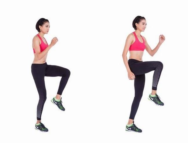 Chạy nâng cao đùi có khả năng đốt cháy mỡ thừa cực tốt