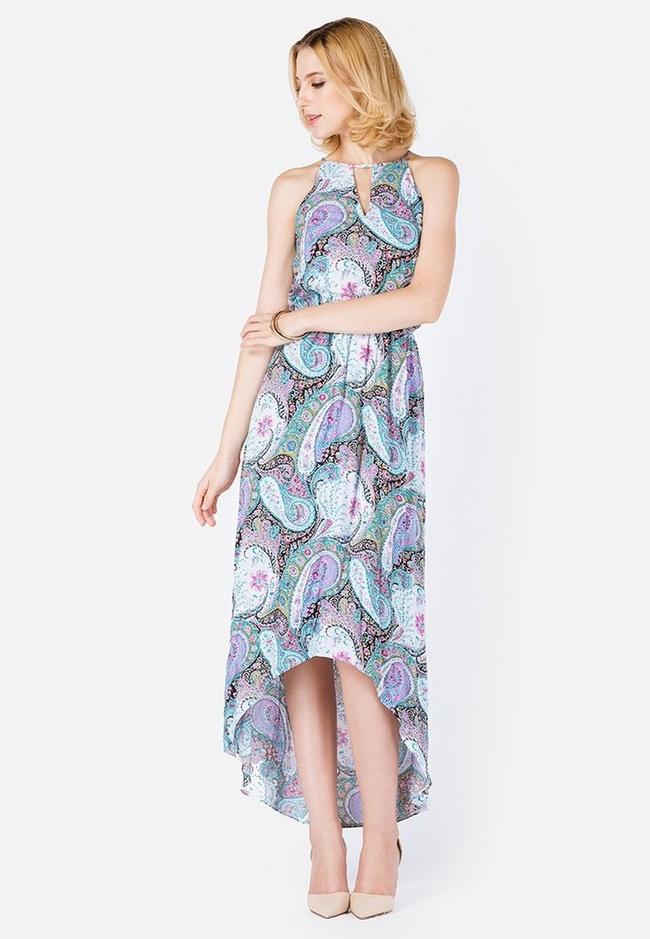 Đầm maxi đi biển dáng mullet sẽ giúp bạn tôn lên chiều cao, giữ nét nữ tính, mềm mại