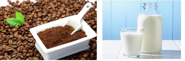 Đắp mặt nạ bã cà phê với sữa tươi không đường trị mụn hiệu quả