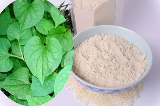 Mặt nạ cám gạo và rau diếp cáđánh bay nốt thâm
