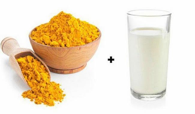 Điều trị mụn thâm bằng sữa tươi không đường và nghệ