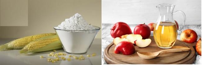 Điều trị mụn thịt bằng giấm táo và bột ngô hiệu quả