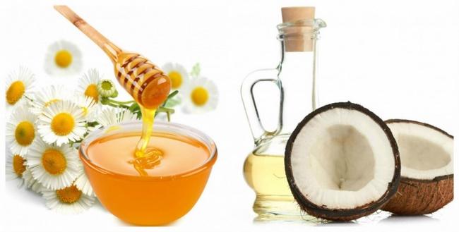 Điều trị mụn thịt bằng mật ong và dầu dừa