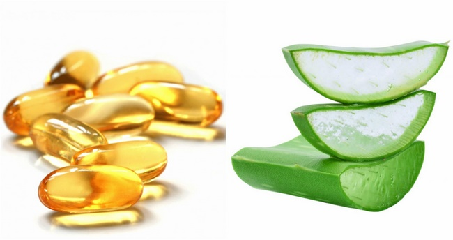 Điều trị mụn trứng cá bằng vitamin E và nha đam