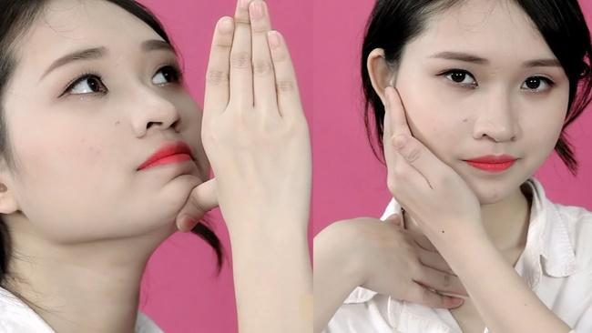 Động táclàm thon gọn mặt của người Nhật