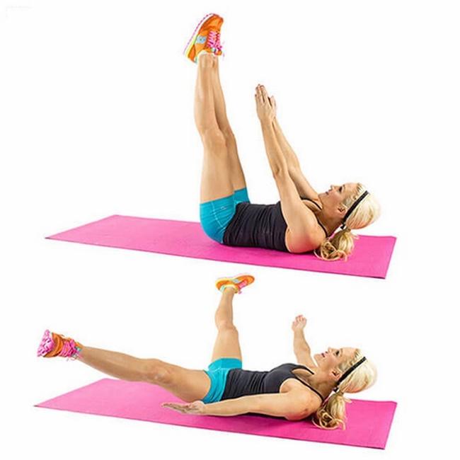 Gập bụng vỗ tay bài tập gym giảm mỡ bụng cho nữ