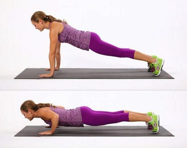 Hít đất giúp tăng cơ giảm mỡ bụng