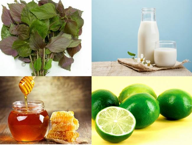 Mặt nạ lá tía tô và mật ong tăng cường công dụng dưỡng trắng da