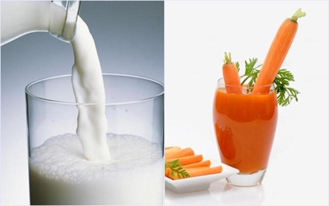 Mặt nạ sữa tươi không đường và nước ép cà rốt Cho làn da thêm mịn màng, tươi sáng