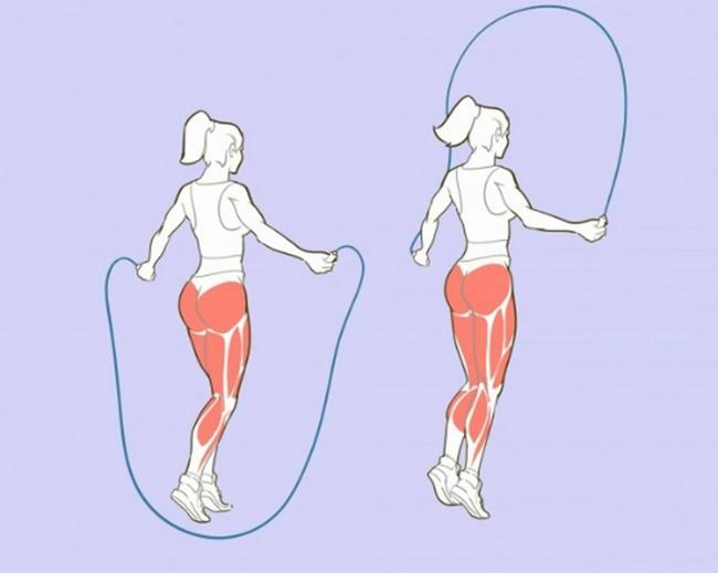 Nhảy dây không khiến bắp chân to ra, ngược lại còn cho đôi chân thon gọn, săn chắc