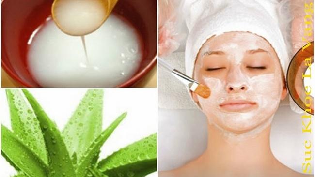 Nước vo gạo với nha đam sẽ cải thiện màu da và trị mụn hiệu quả