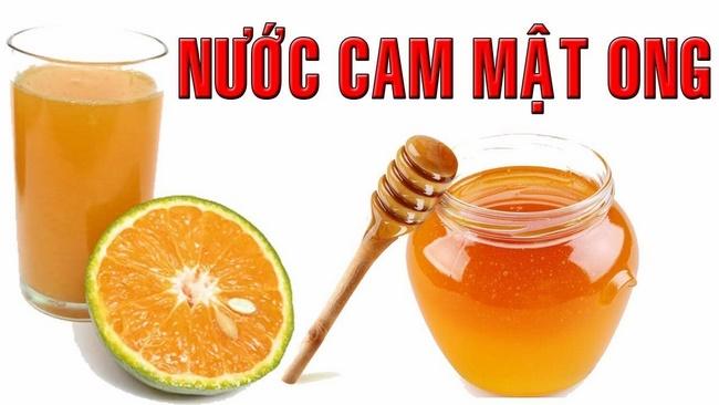 Sử dụng nước cam pha mật ong