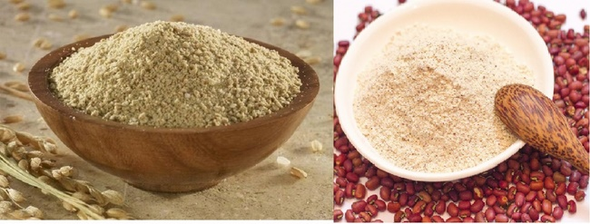 Tẩy da chết toàn thân với bột đậu đỏ và bột cám gạo
