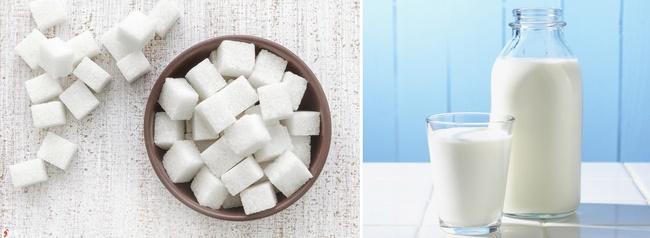 Sử dụng sữa tươi không đường và đường cho làn da khô.